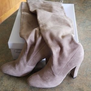 Steve Madden true over the knee suede boots